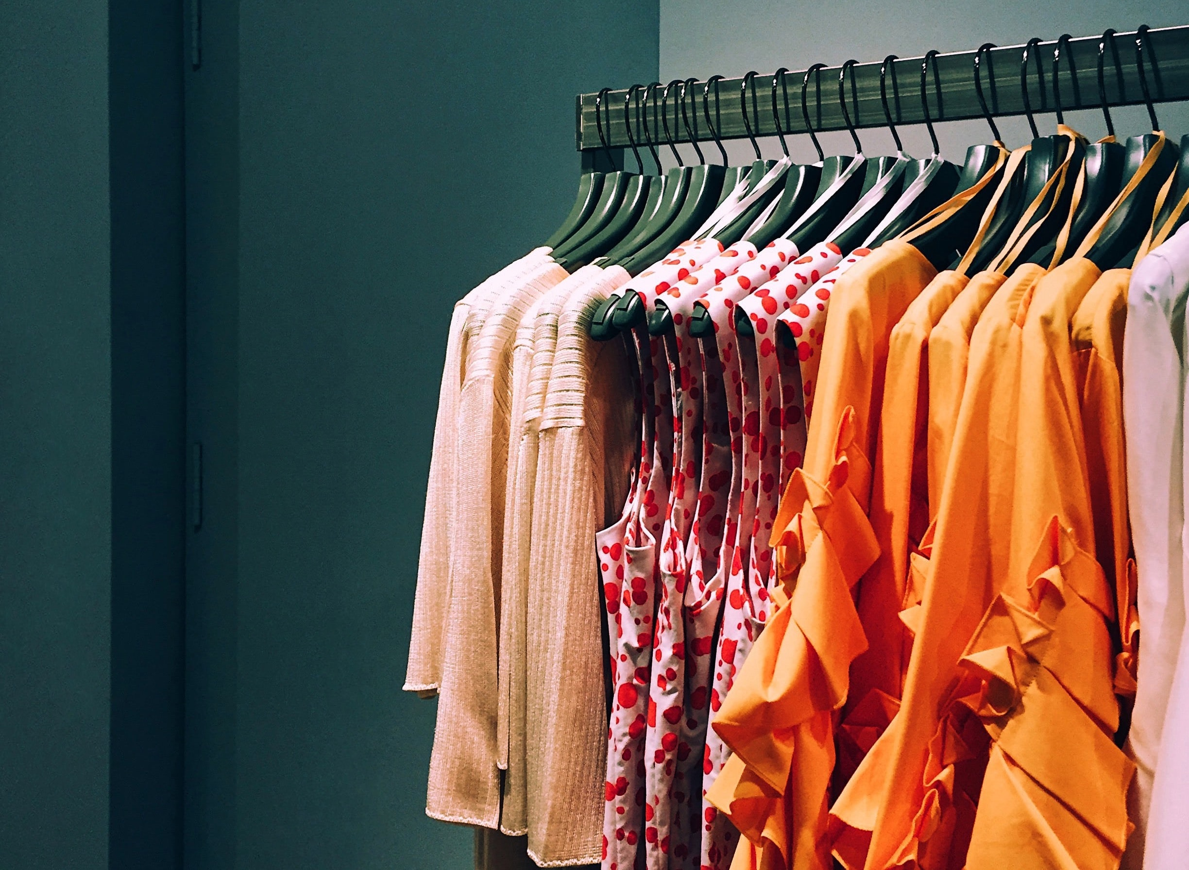 A rack of shopping clothes. Marcus Loke/Unsplash