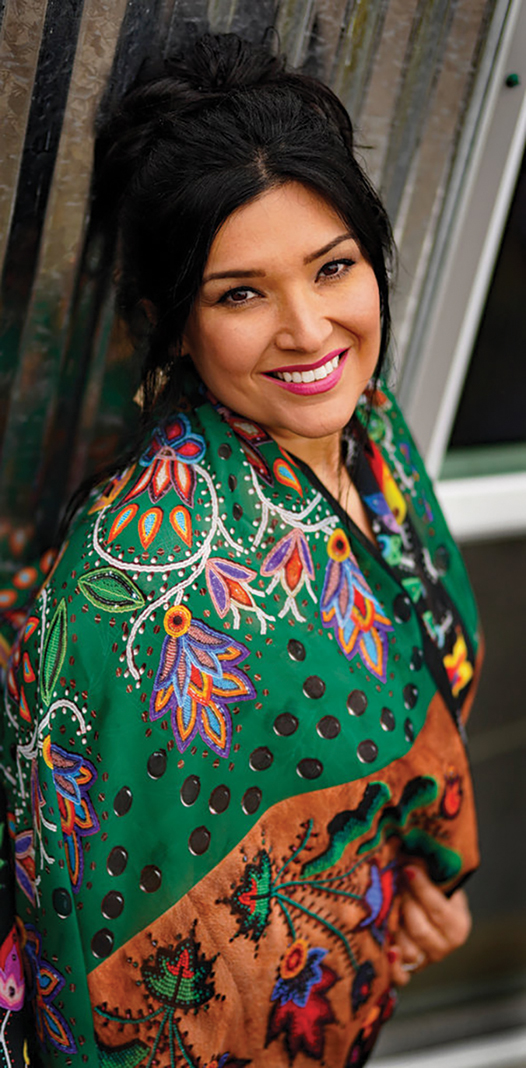 The Woodland wraparound scarf by Delina White (Minnesota Chippewa Tribe), of I Am Anishinaabe