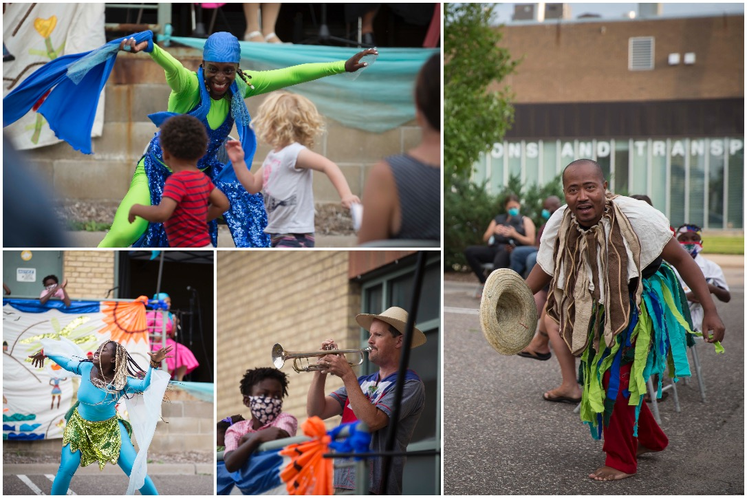 """The Mermaid and the Whale"" had its official book launch at Alliance Francaise Mpls on August 21, 2020. At the event, Djenane Saint Juste's performing arts company, Afoutayi, helped bring the story to life."