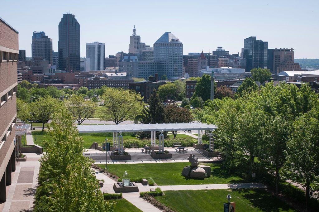 Saint Paul College campus overlooks downtown St. Paul