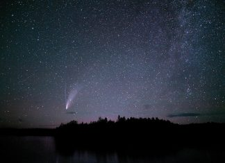 Comet Neowise over the Boundary Waters
