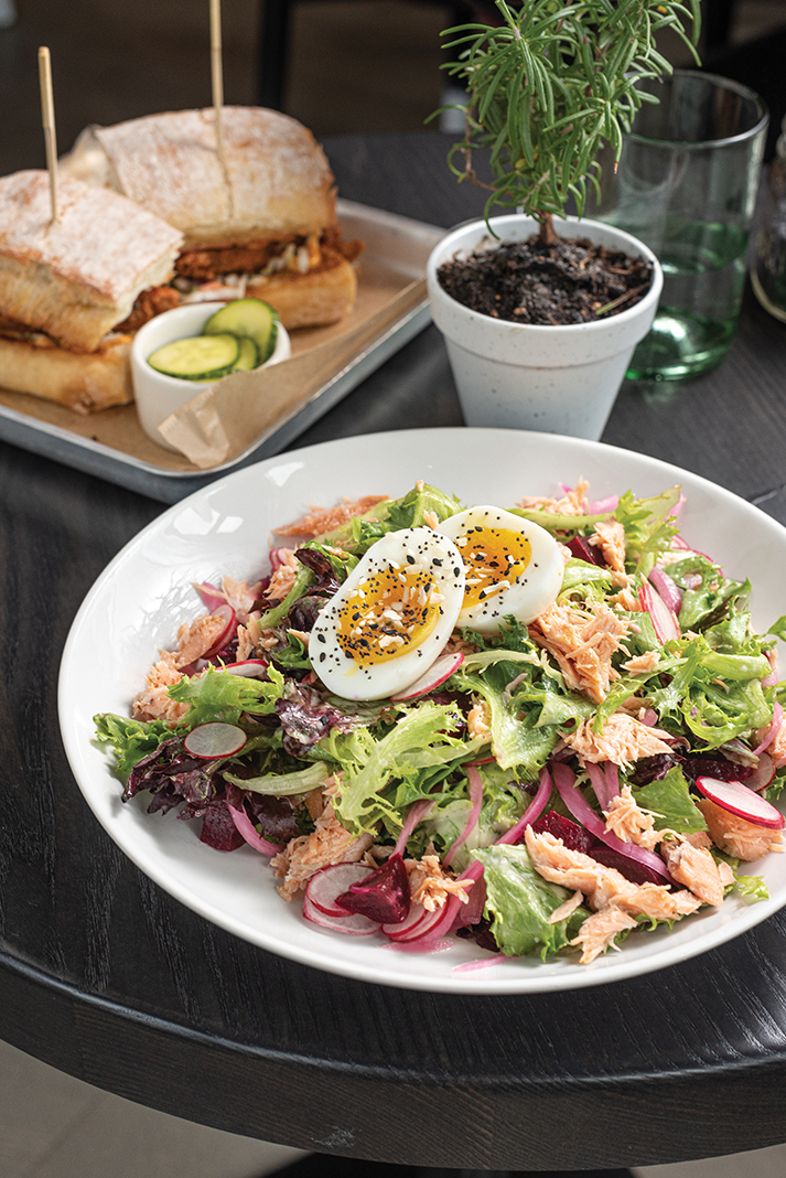 Hot Smoked Salmon Salad at the Grocer's Table
