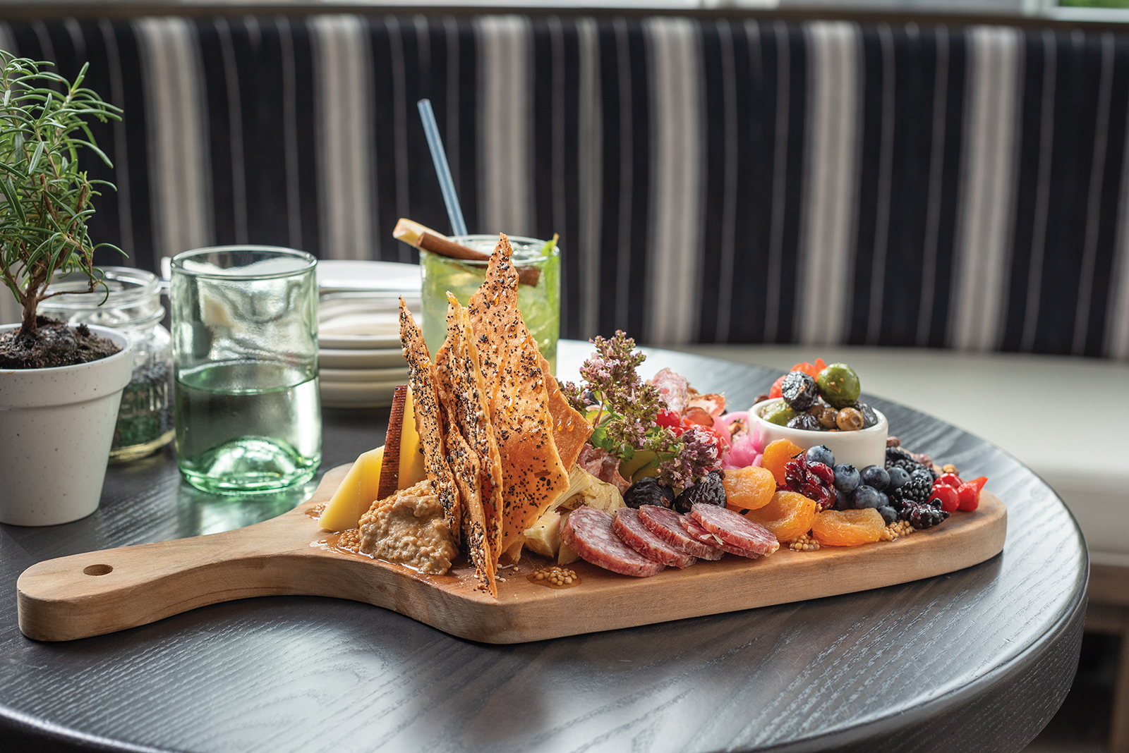 Cocktails and a massive cheese-and-charcuterie board, anone?