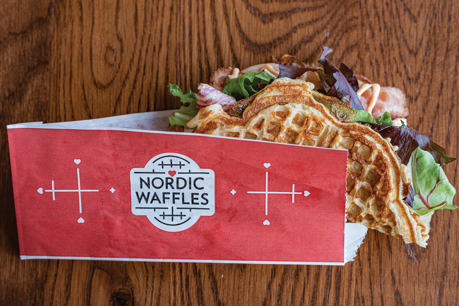 A savory selection from Nordic Waffles