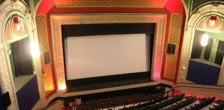 The interior of the Grand Theatre in Crookston, MN.