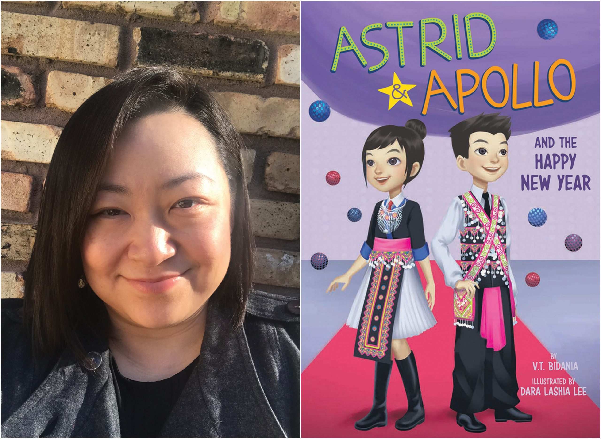 "Author Vong ""V.T."" Bidania's children's book ""Astrid & Apollo and the Happy New Year"" details a celebration at a RiverCentre-like stadium"