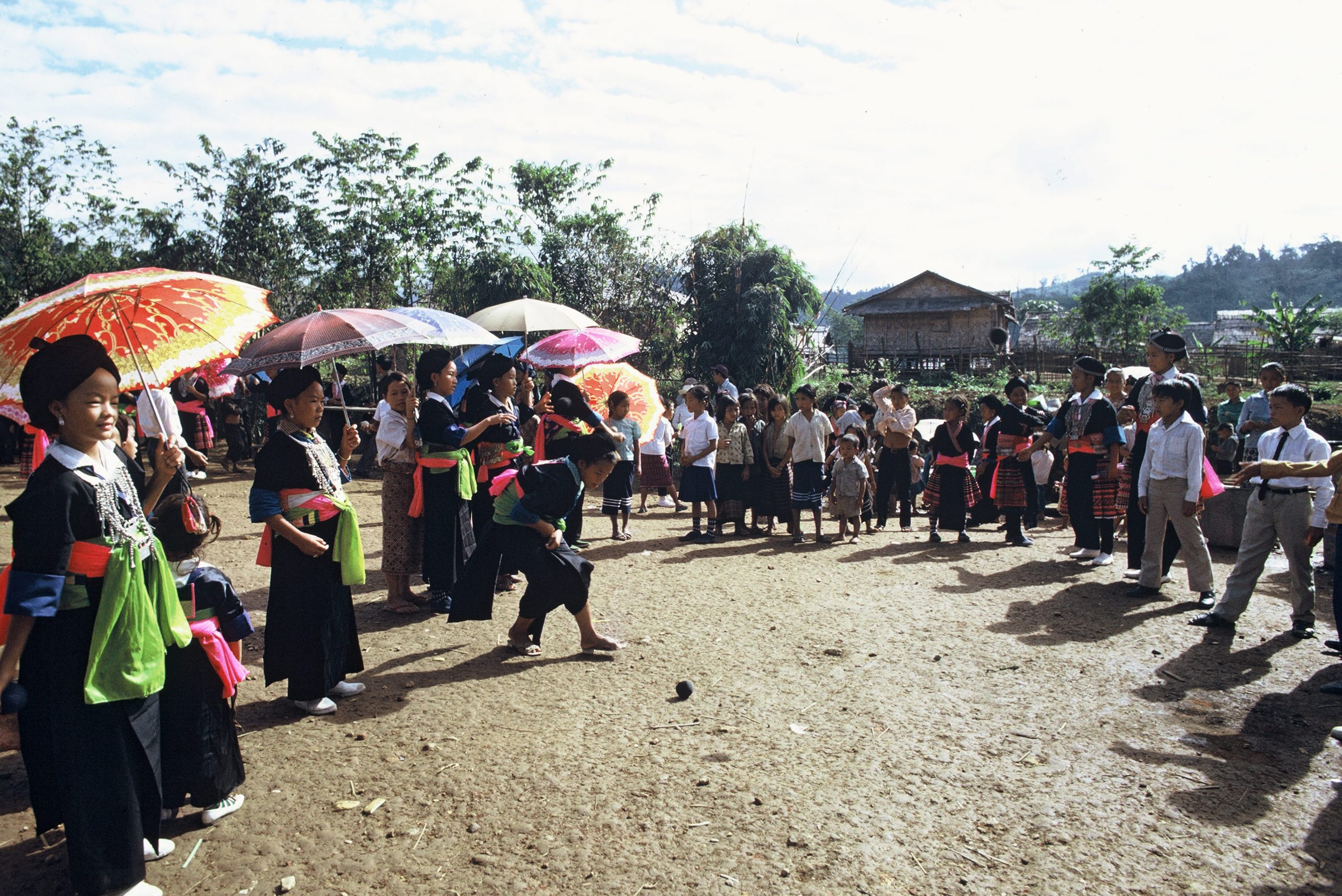 A game of pov pob played for Hmong New Year in Laos