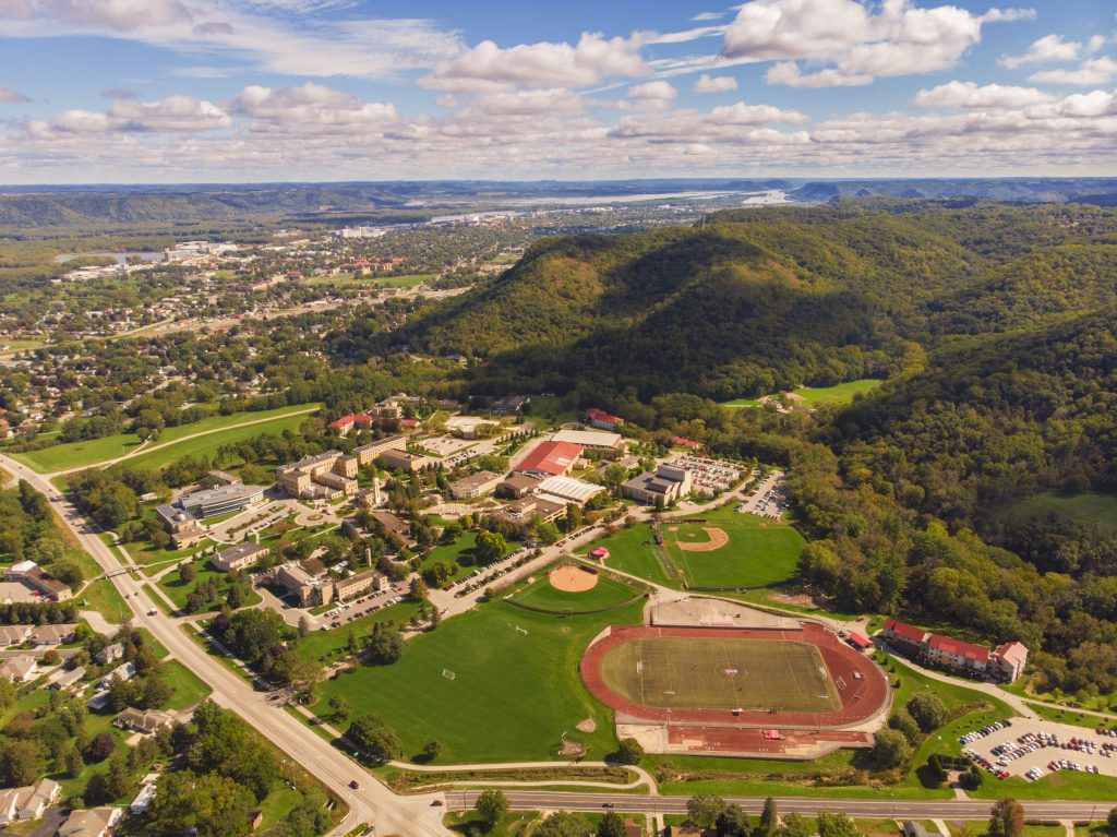 Saint Mary's Winona campus aerials taken August 2019.