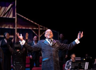 "Dennis Spears in a production of ""Black Nativity"" at Penumbra Theatre, which returns piecemeal this year in virtual form"