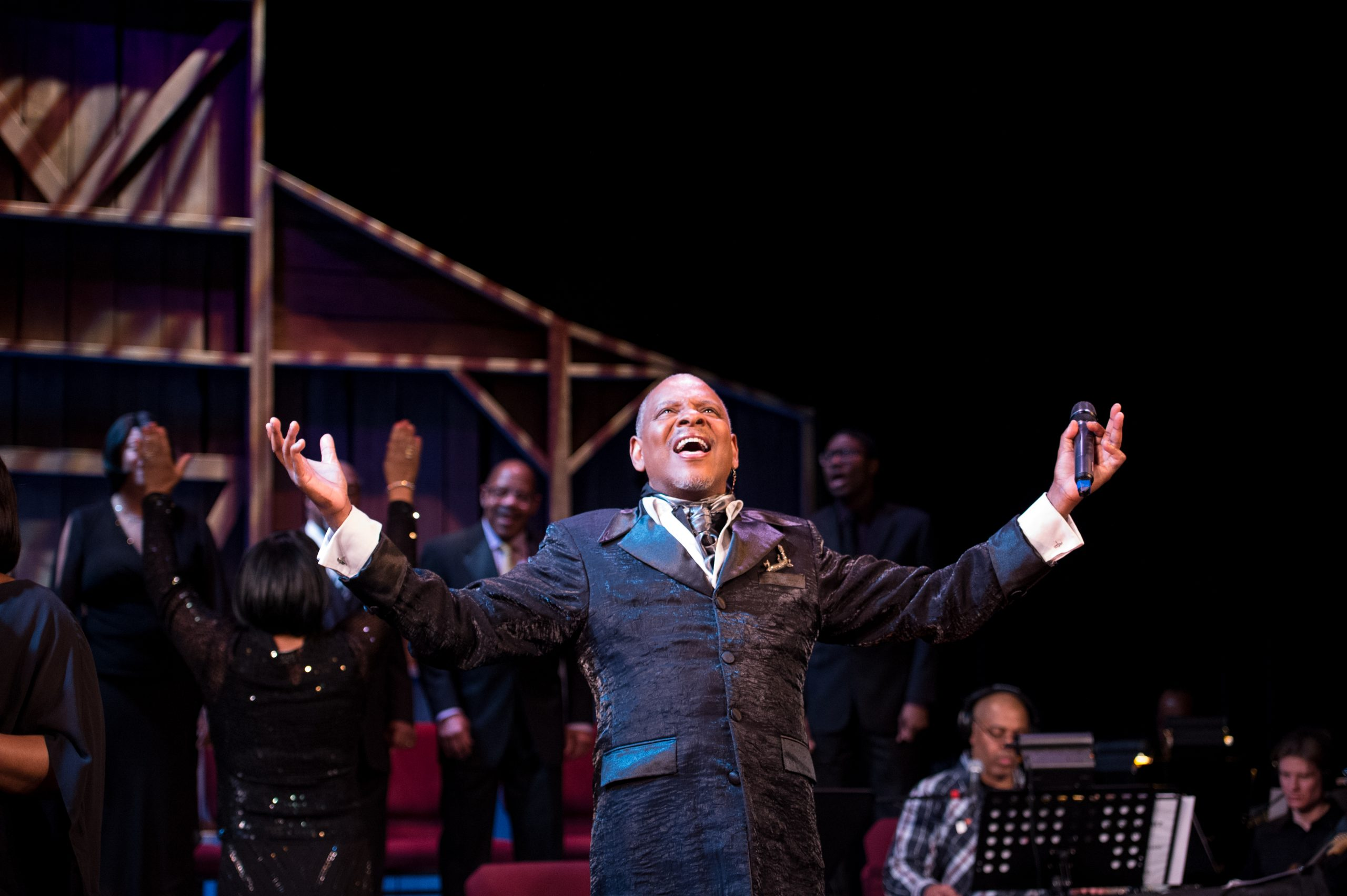 """Dennis Spears in a production of """"Black Nativity"""" at Penumbra Theatre, which returns piecemeal this year in virtual form"""