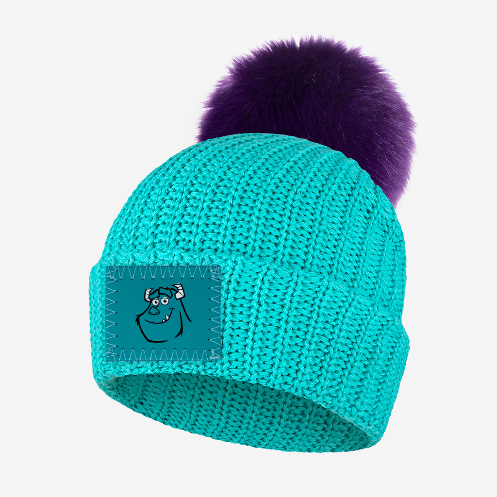 Love Your Melon Monsters Inc. Sully neon teal beanie