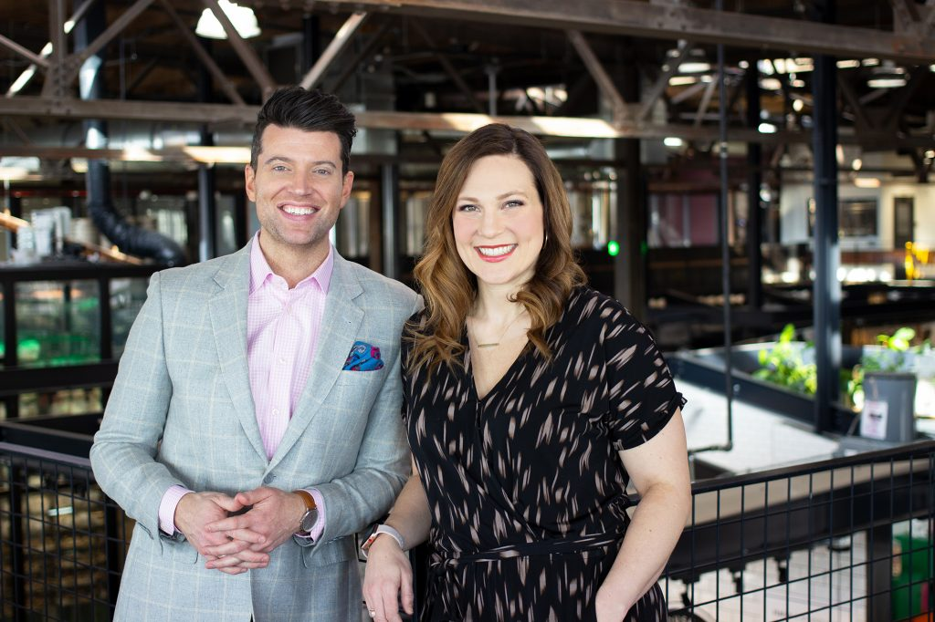 Steve Patterson and Elizabeth Ries from Twin Cities Live on KTSP
