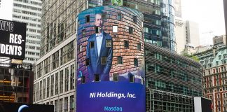 UND student Pierson Painter broadcasted in Times Square ringing the closing bell for Nasdaq