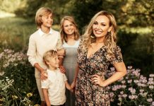 Jessica Koehler, who won 2020's Mrs. Minnesota pageant, with her family