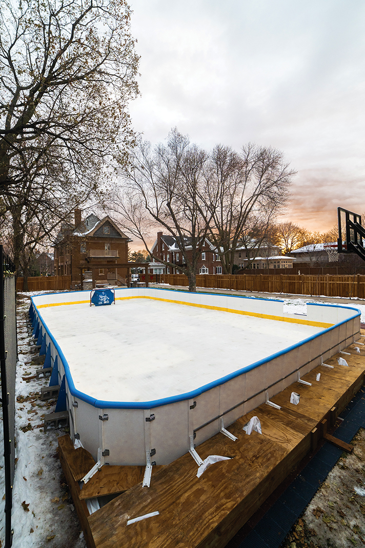 Near Summit Avenue in St. Paul, an example of the rink-building niche Adam Carignan has cornered