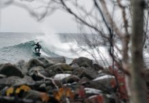 Stoney Point near Duluth is a Minnesota surf spot