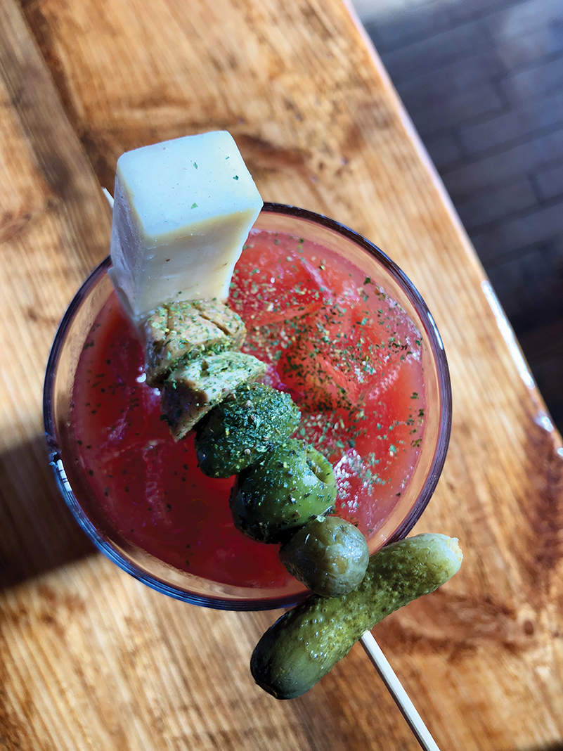 A Bloody Mary at Manger Restaurant + Wine Bar in Bayport, Wisconsin