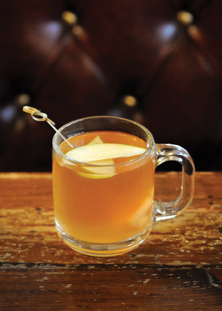 Nanny's Cure All (ginger-infused Jameson and apple cider) at Merlins Rest Pub