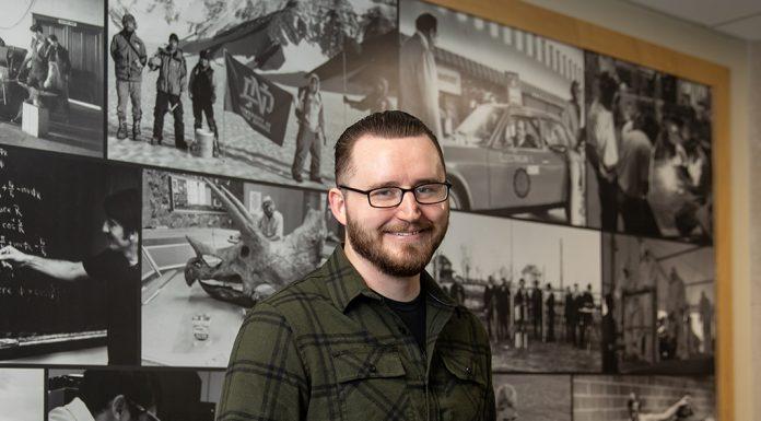 Jonathan Wirkkala, electrical engineering student at the University of North Dakota