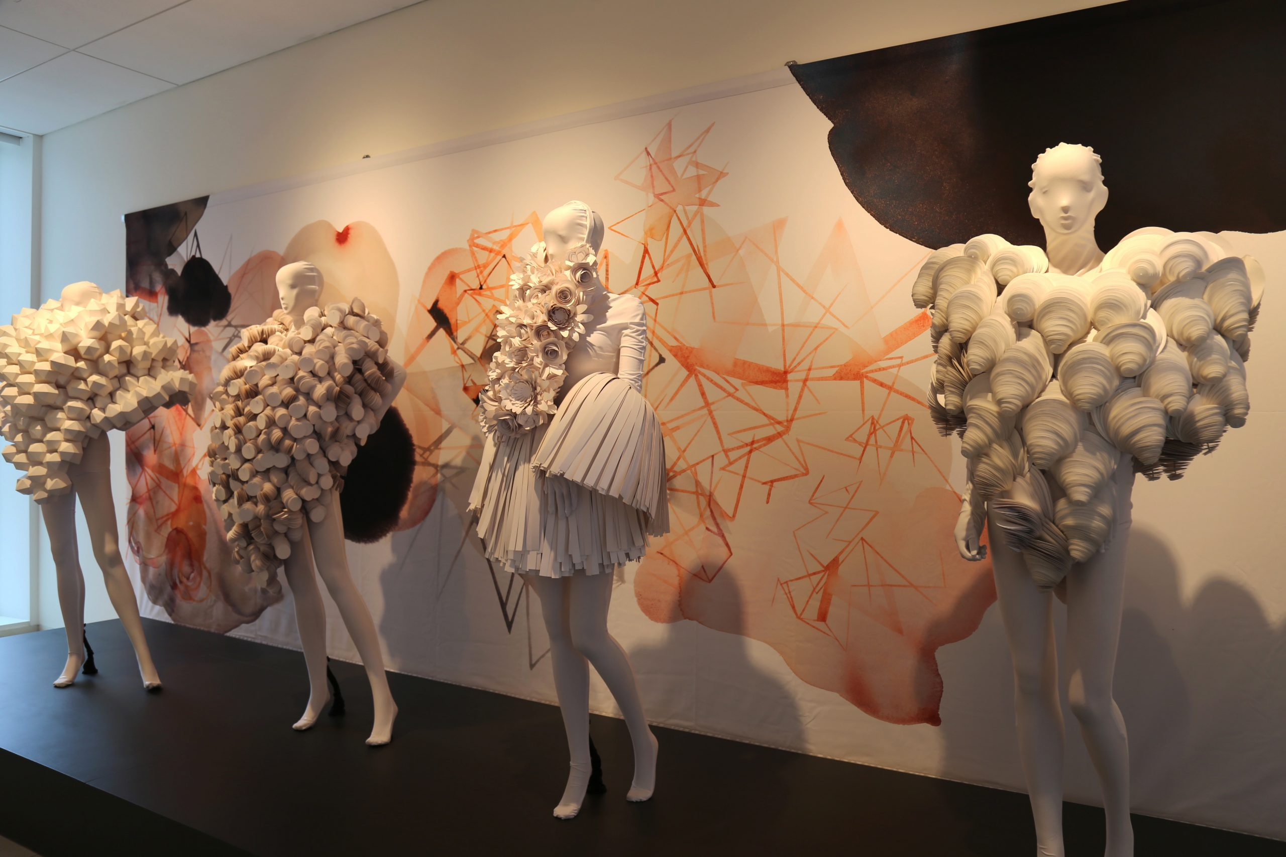 "As the American Swedish Institute reopens, the ""Papier"" exhibit, featuring wearable high-fashion couture by Bea Szenfeld and ink drawings by Stina Wirsén, invites a close look"