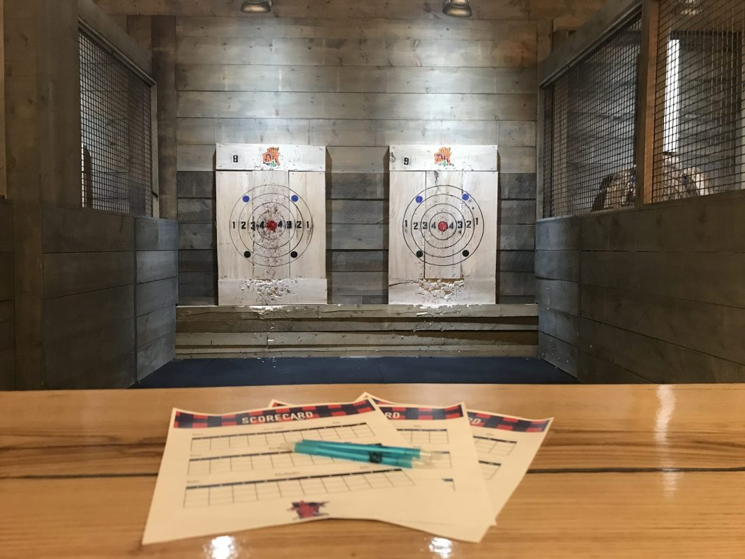 Try your hand at axe throwing—literally or virtually