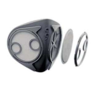 The B2 mask uses a University of Minnesota-tested, dual-filter system