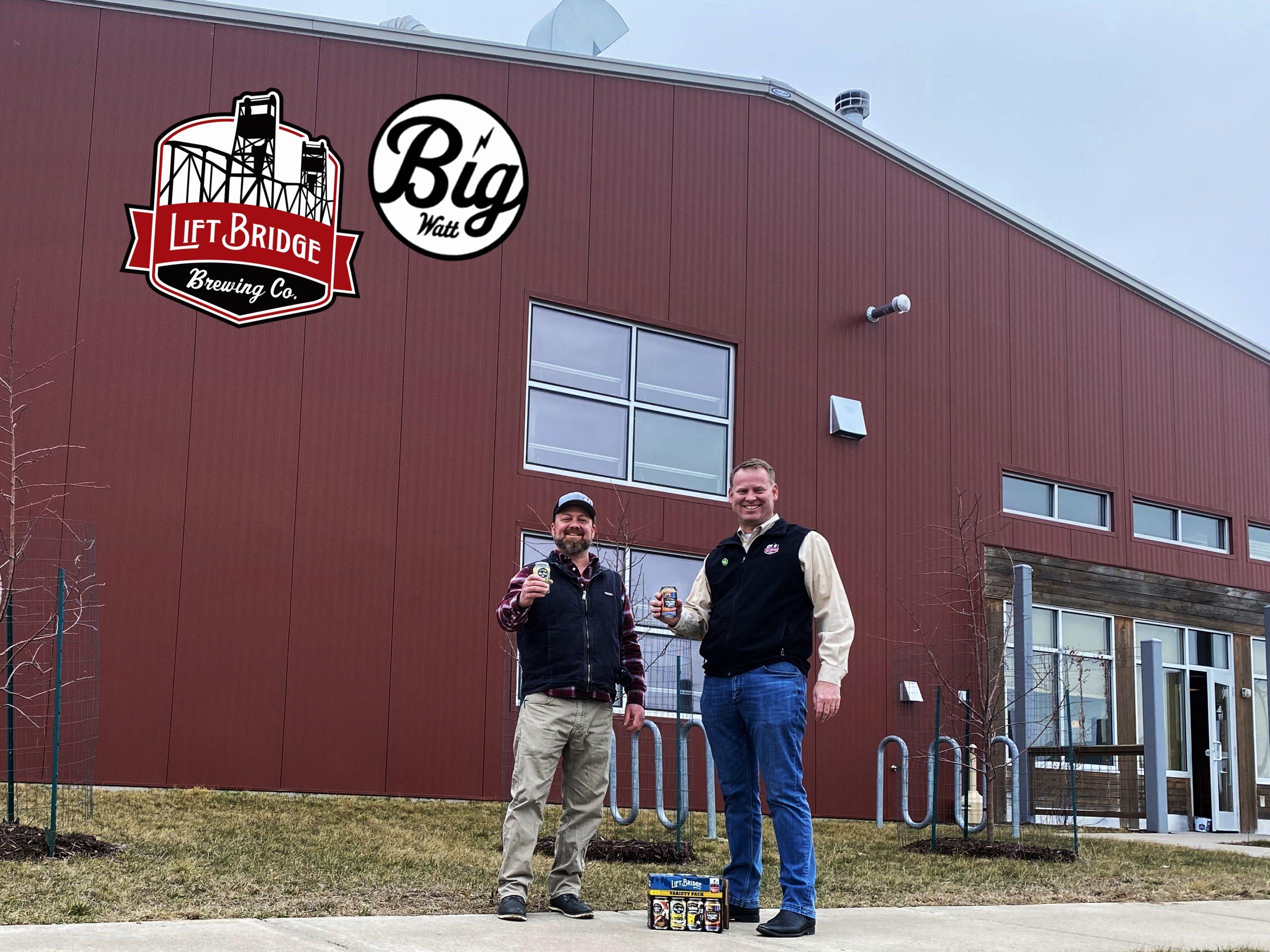 Lift Bridge's co-founders, Vice President Brad Glynn (left) and CEO Dan Schwarz