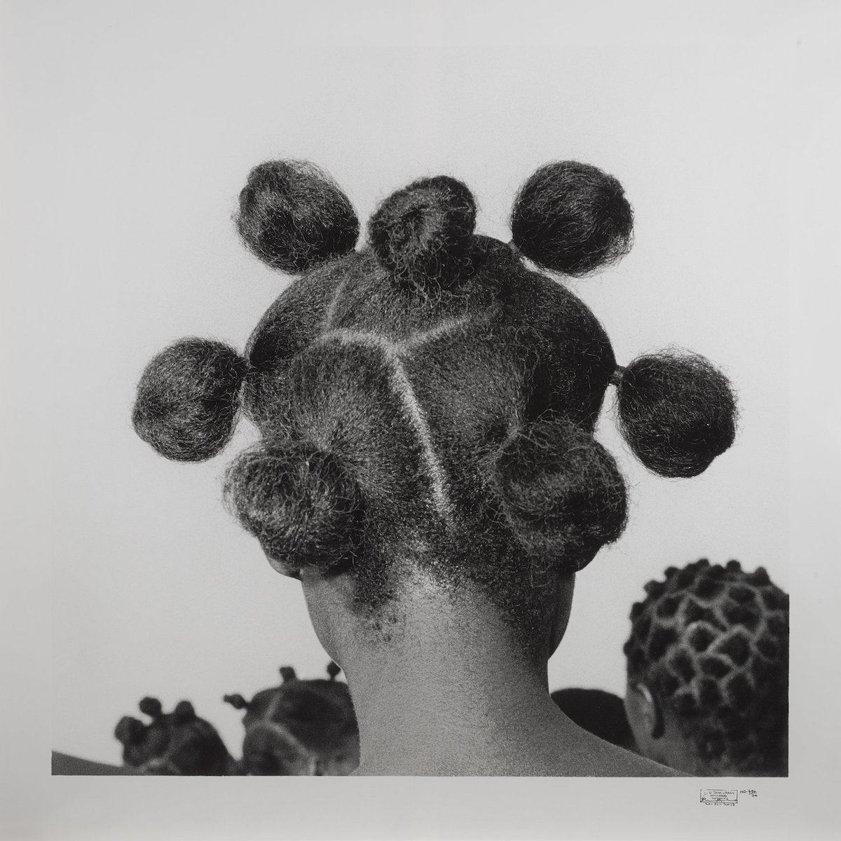 """A photo by Nigerian photographer J.D. 'Okhai Ojeikere, to appear as part of """"Rituals of Resilience"""" at Mia"""
