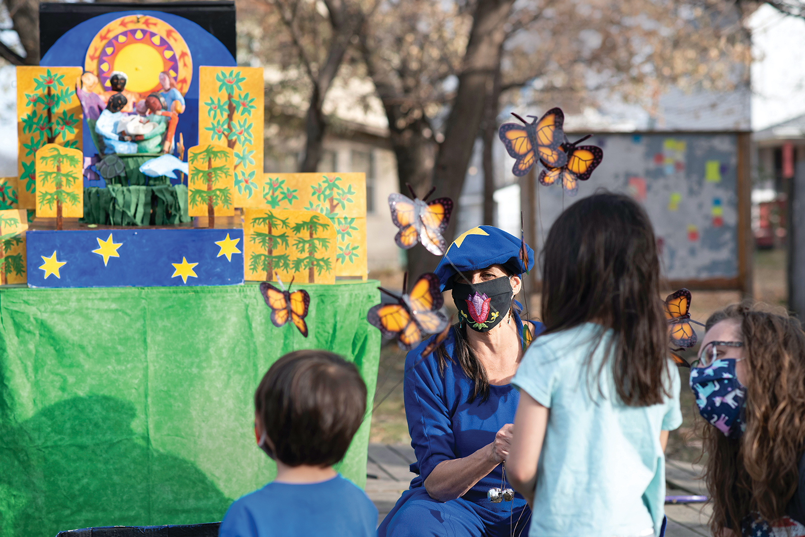 """Puppeteer Esther Ouray performs in Minneapolis for """"Artists Respond: Combating Social Isolation,"""" an event by Springboard for the Arts"""