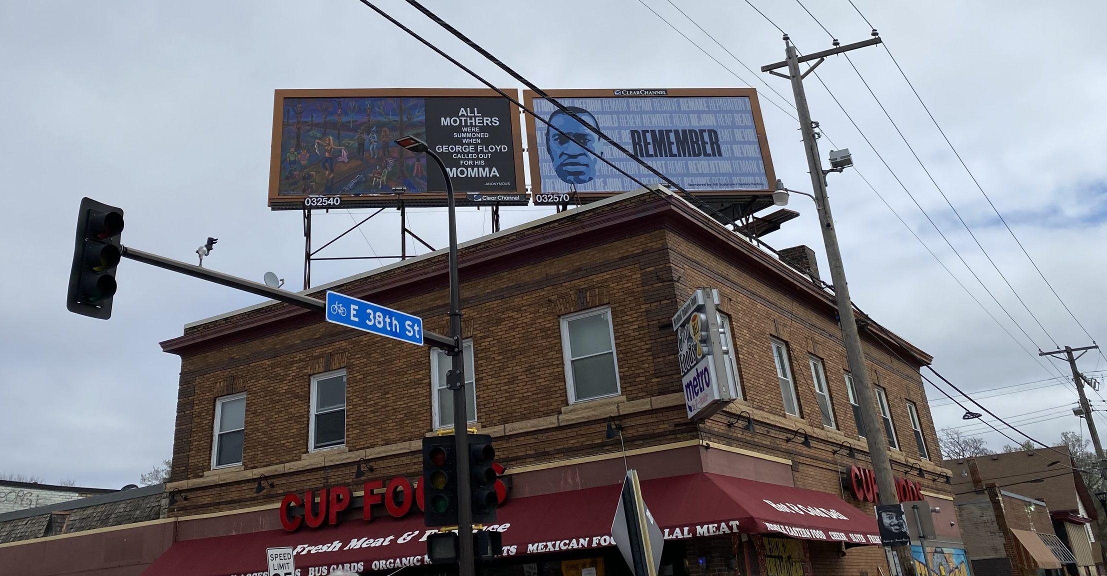 George Floyd Square billboards