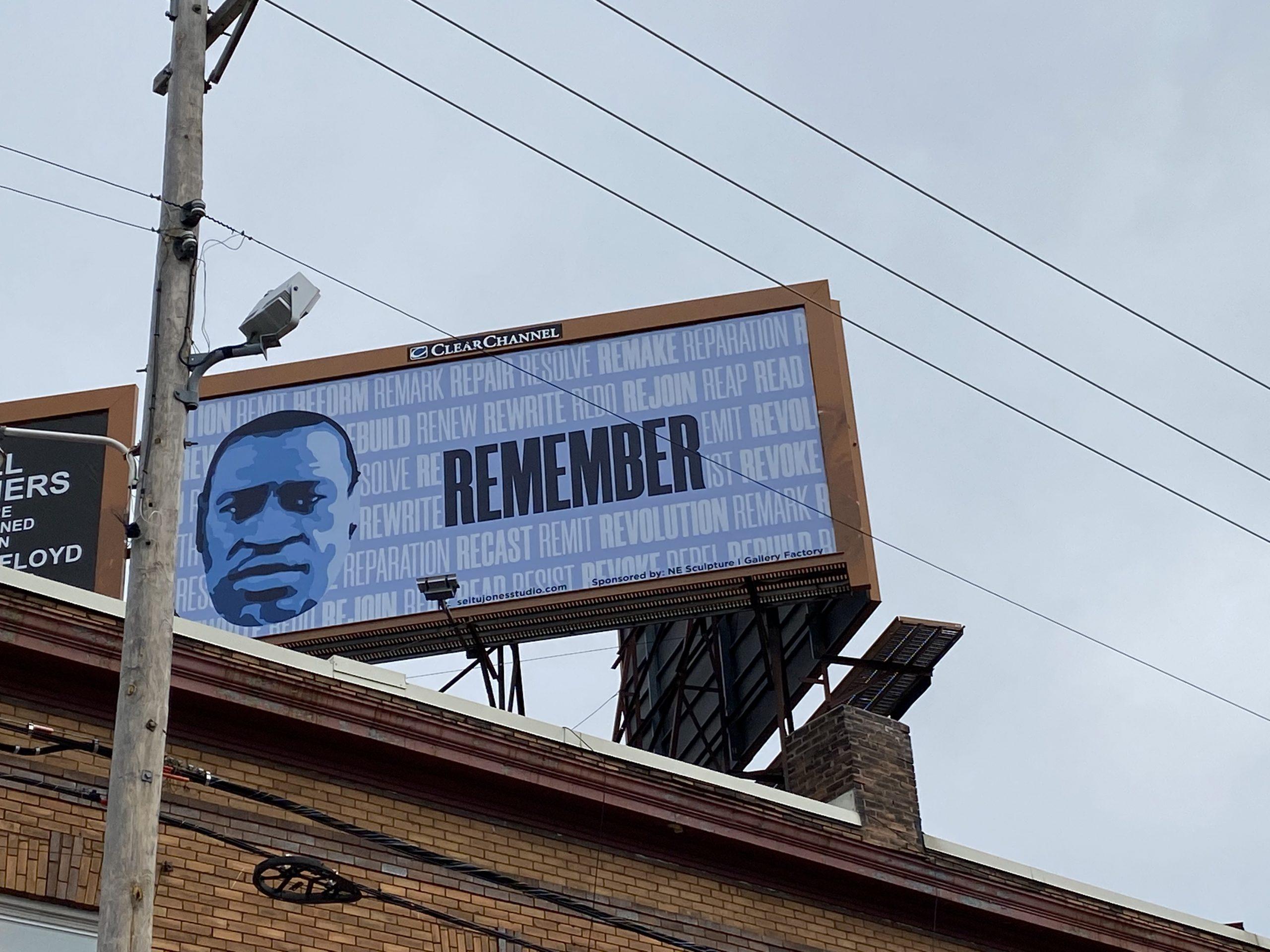 #blues4george billboard by Seitu Jones