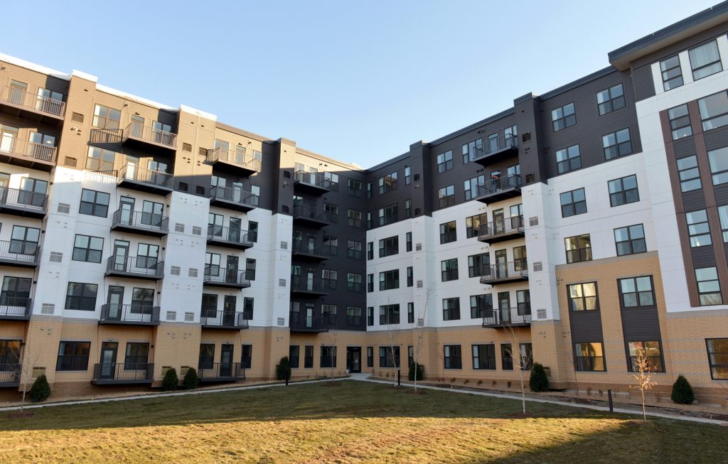 The exterior of Bren Road Station Apartments
