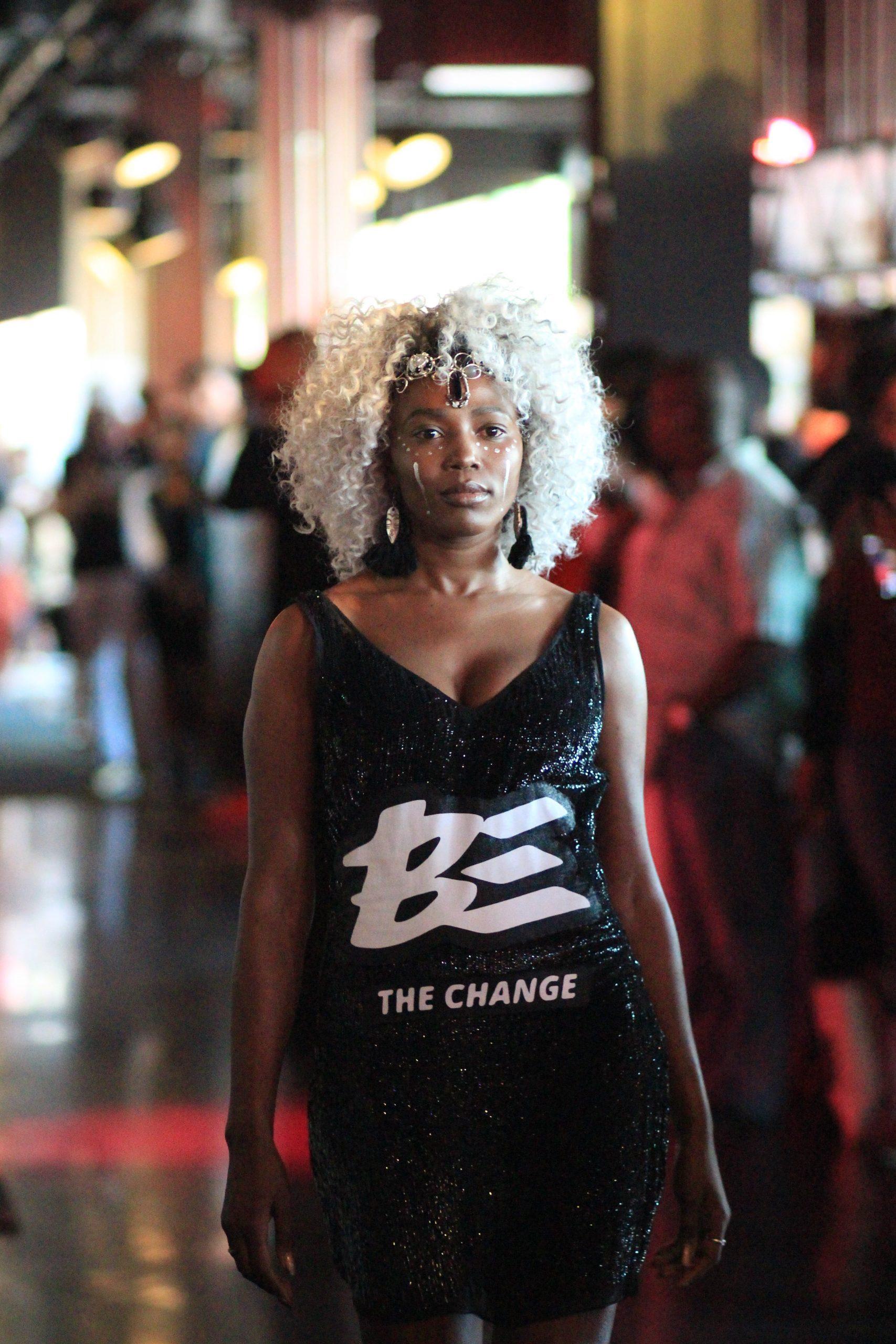 Still from a fashion show at the inaugural Black Fashion Week MN