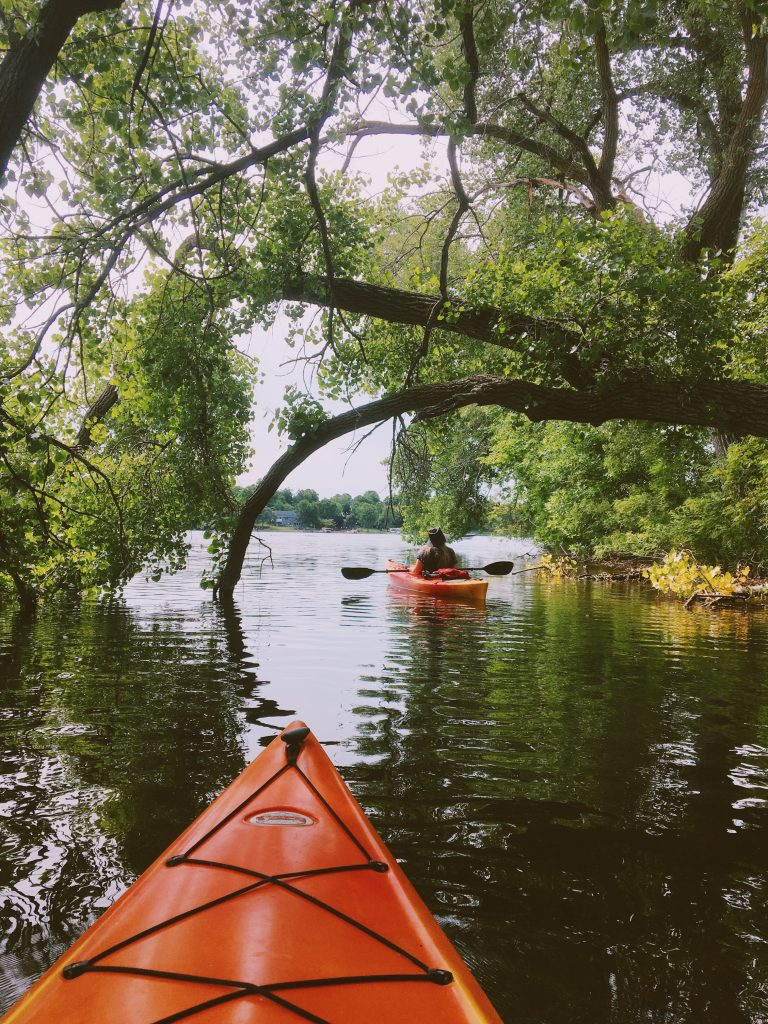 Kayaking in the Willmar Lakes Area