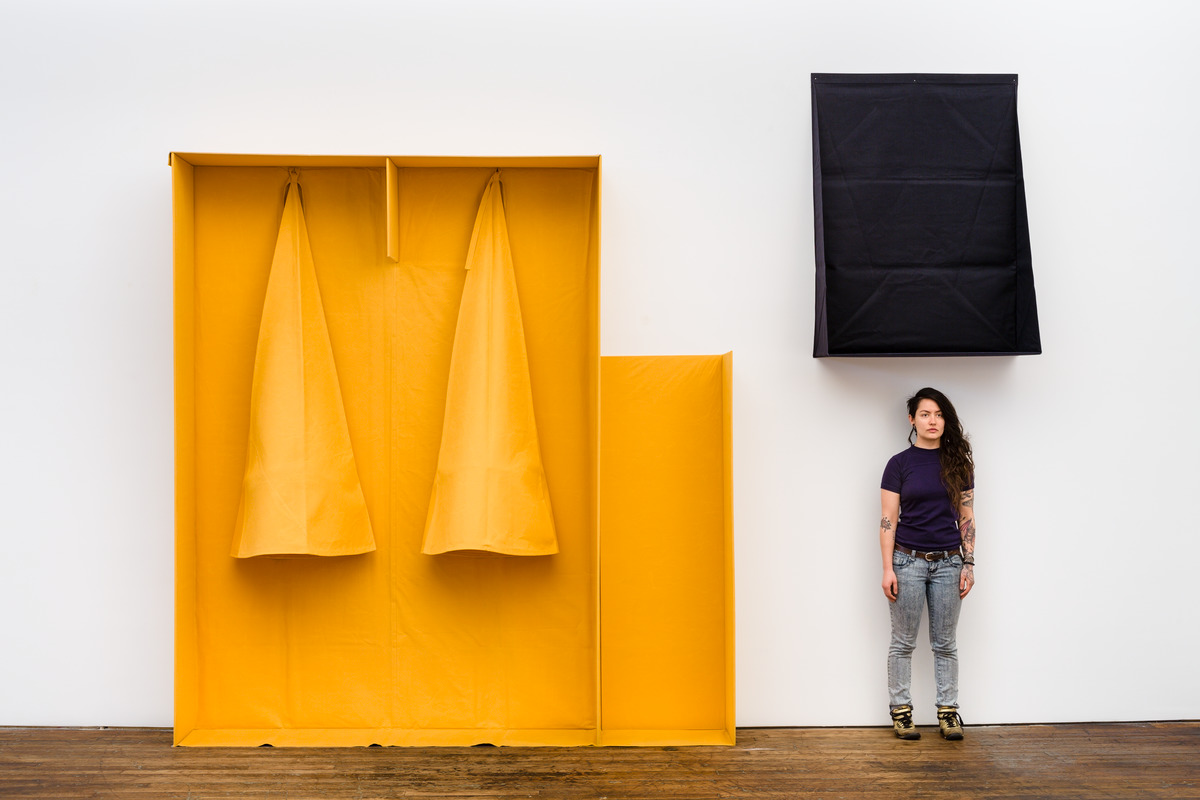 """An exhibit about stillness opens at the Walker, including Franz Erhard Walther's """"Definierter Ort, beweglich Ziele (Defined Place, Mobile Targets)"""""""