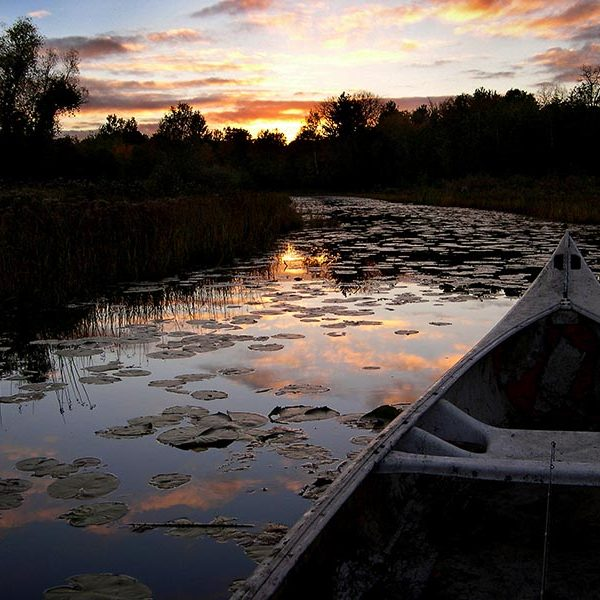 A sunset viewed from the canoe in Twin Cities Gateway