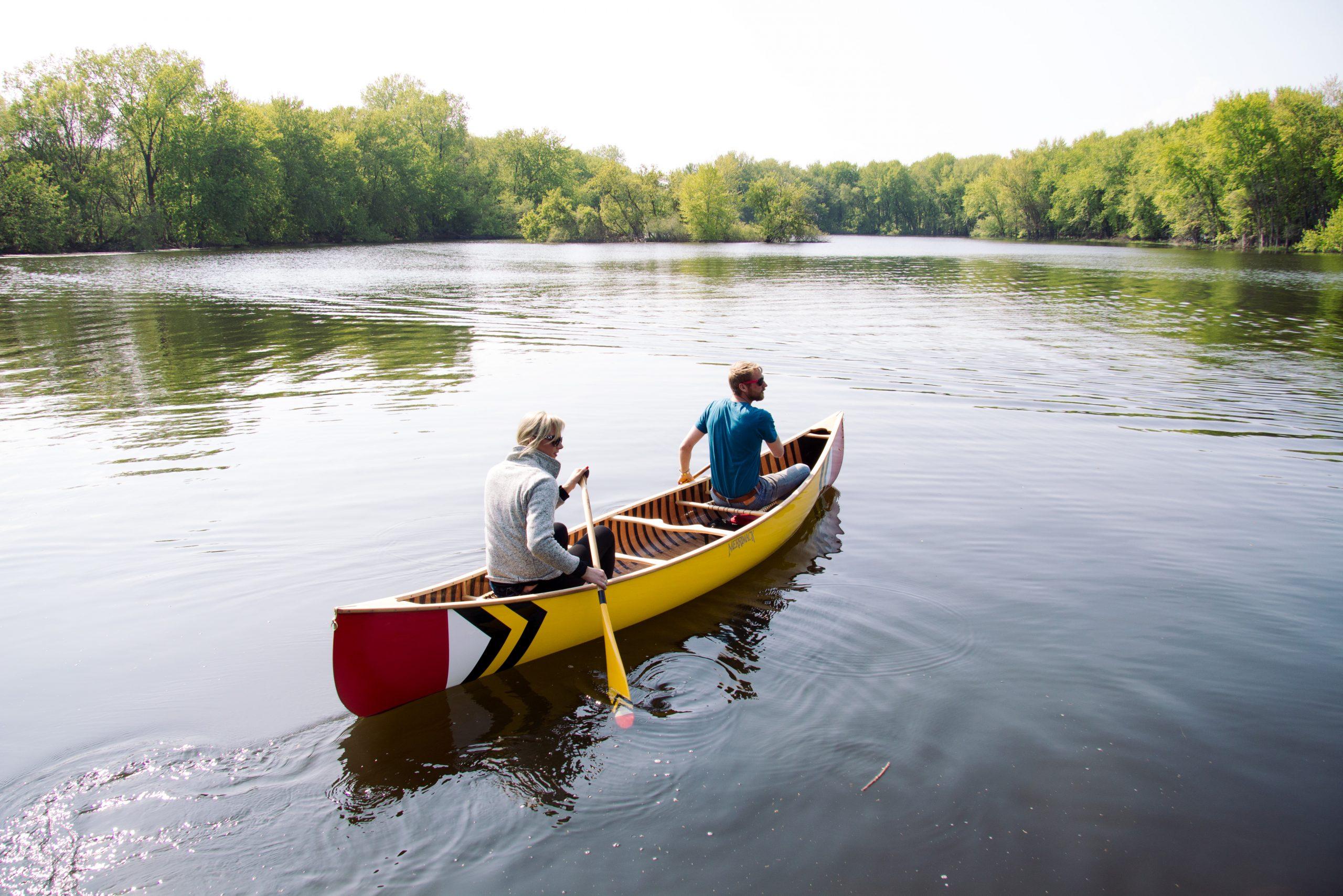 Merrimack + Sanborn Dalles  Des Morts Canoe