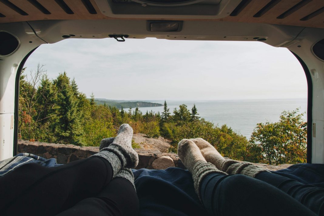 Your campervan bedroom view: wherever you decide to park