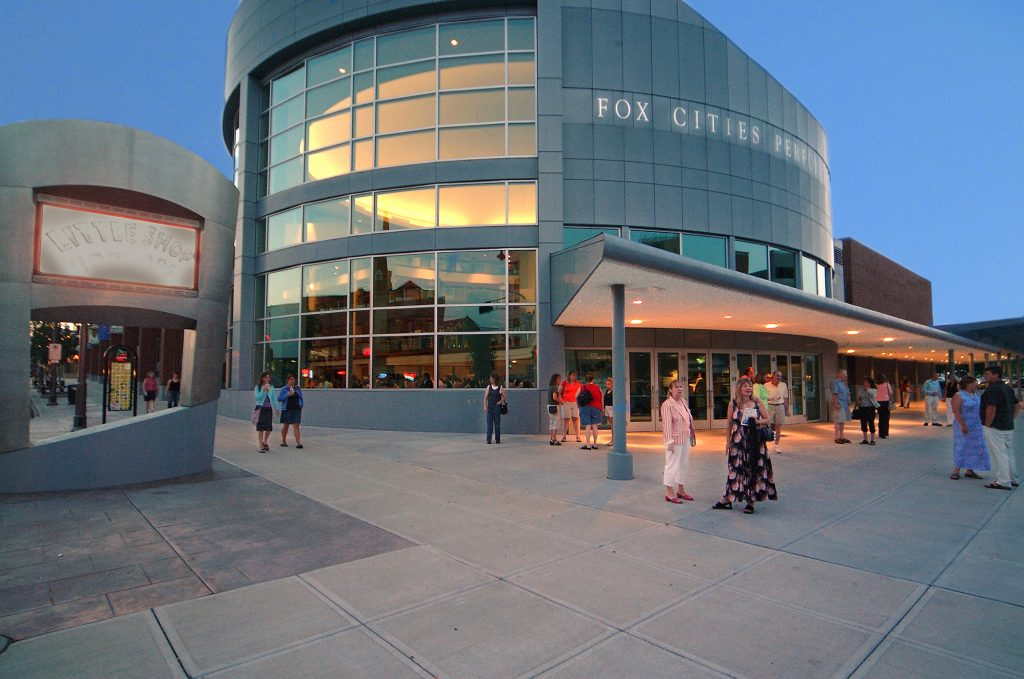 The exterior of the Fox Cities Performing Arts Center