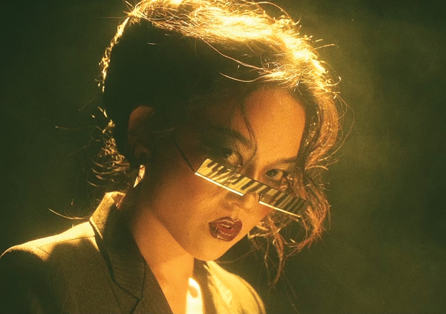 """A still from Rachel Lime's """"Voyager 3"""" music video"""