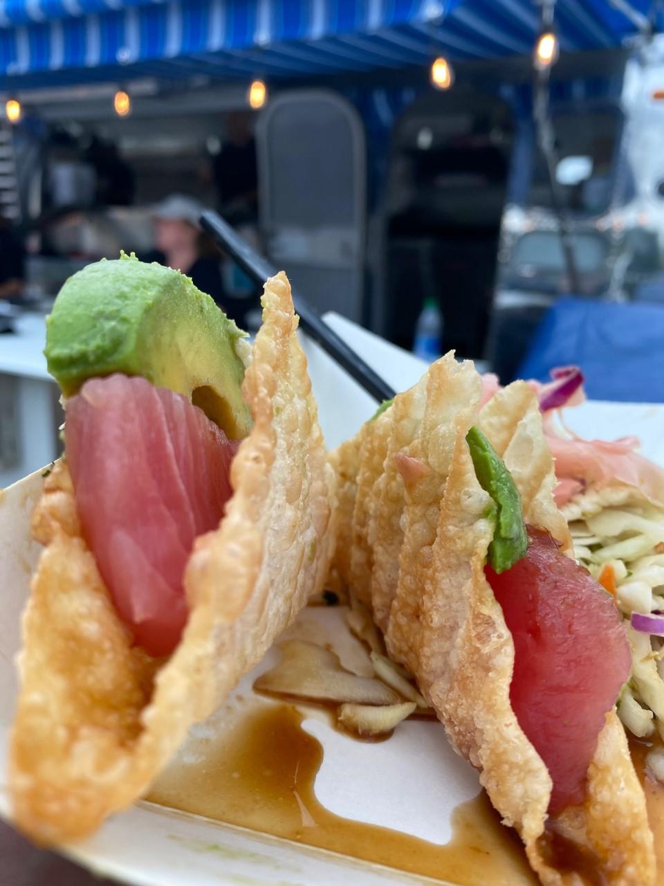 Scenic 61's Sashimi Tuna Tacos