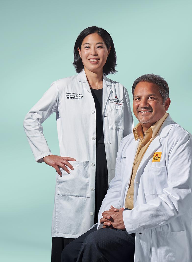Dr. Namoi Fujioka (left, associate professor of medicine at the University of Minnesota) and Dr. Manish Patel (associate professor of medicine at the University of Minnesota)