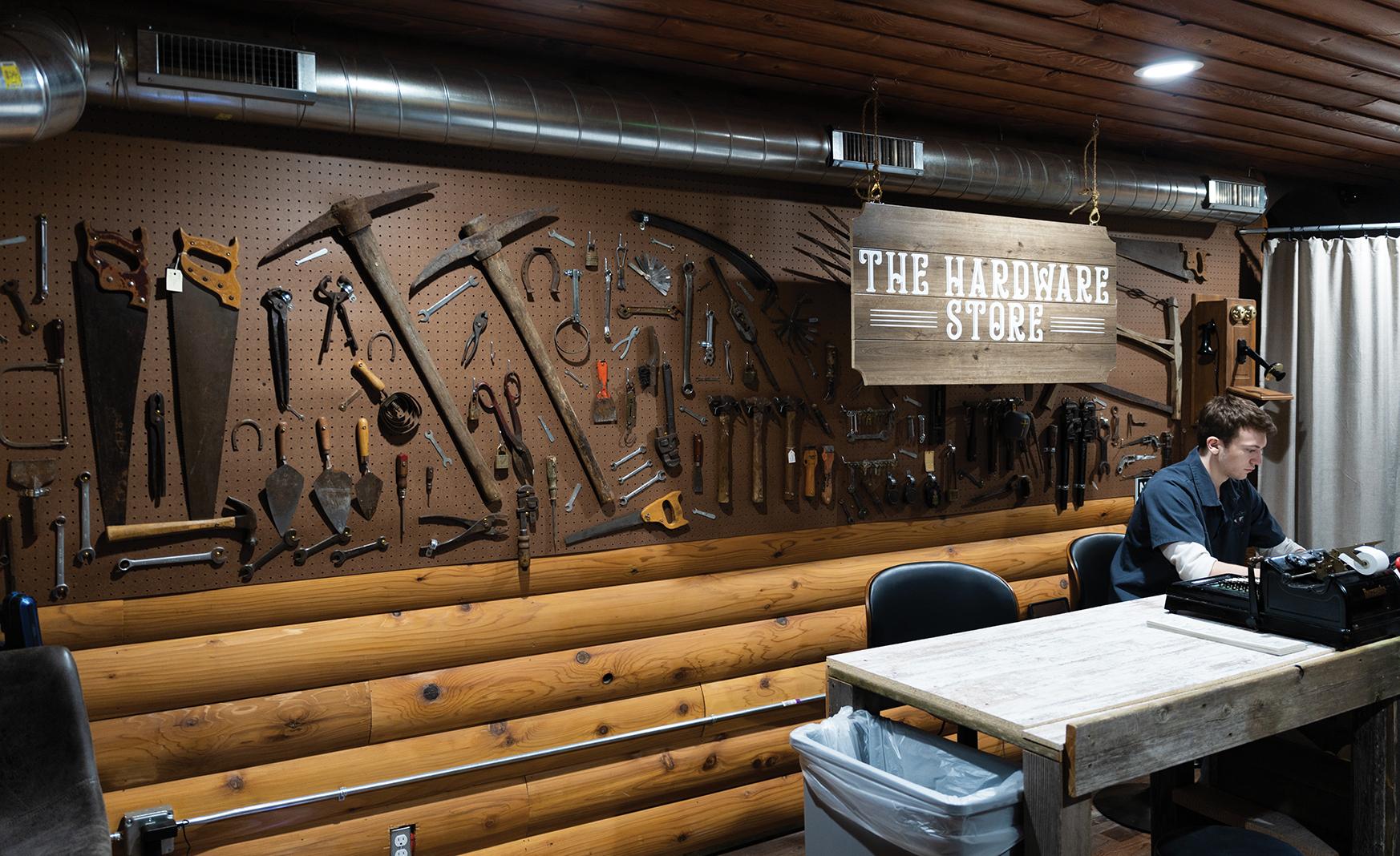 The Hardware Store's speakeasy paraphernalia