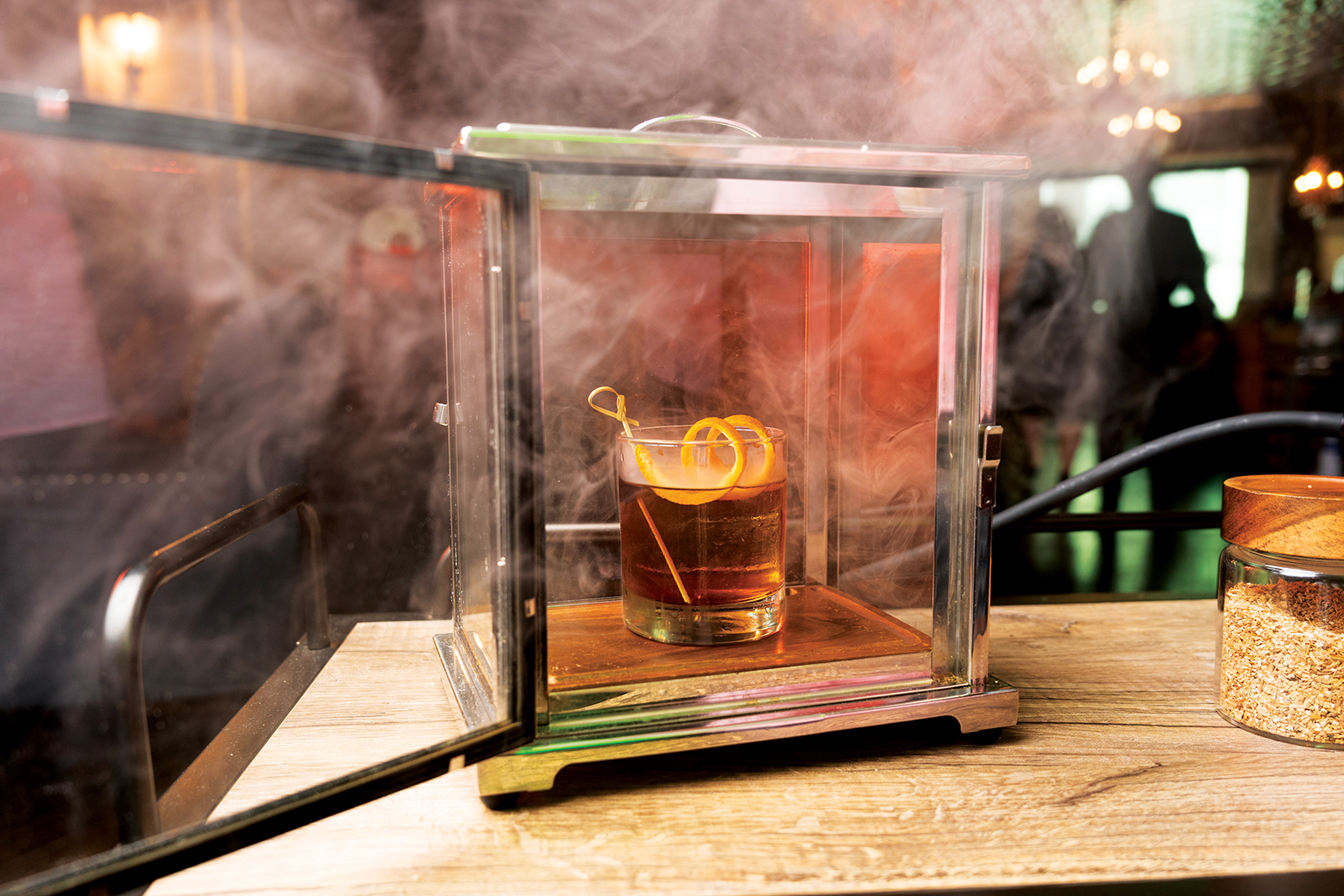 A smoked cocktail at the Hardware Store