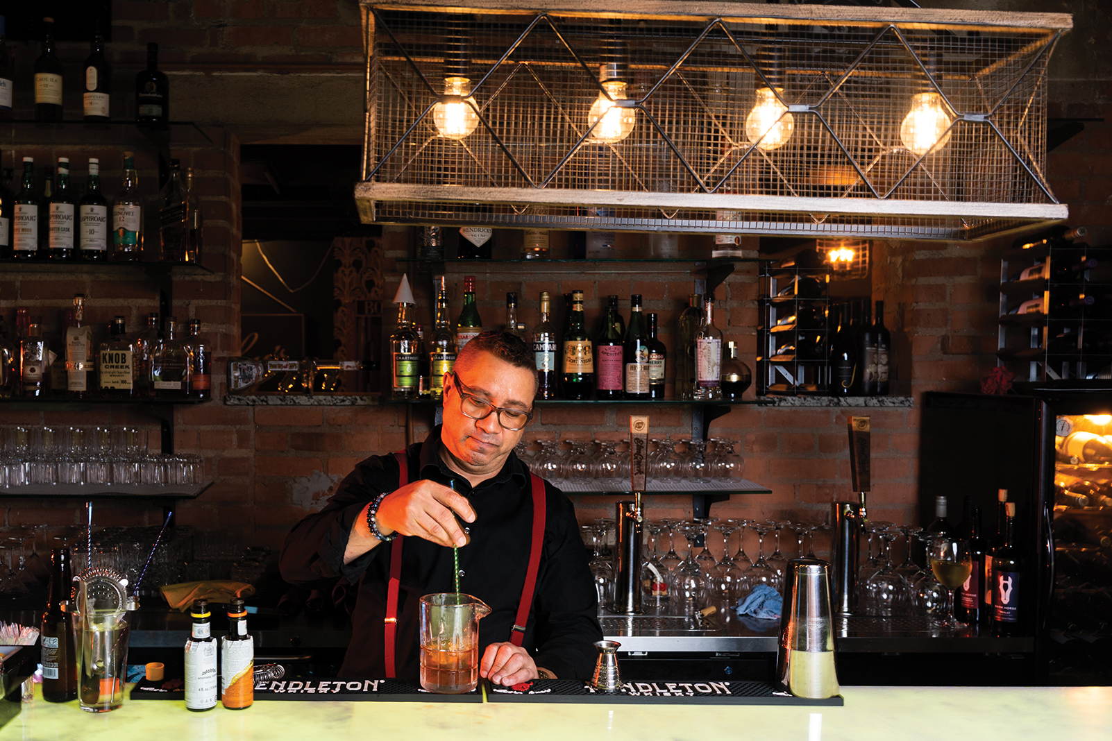 A bartender at Nucky's