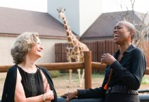"""Actors Regina Marie Williams (right) and Sally Wingert in """"Animate"""" by Mixed Blood Theatre at Como Park Zoo and Conservatory"""