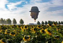 Eerie enough for you? Halloween weekend is when the giant disembodied head of Van Gogh goes flying over Boom Island.